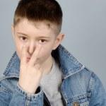 Gesticulating boy — Stock Photo