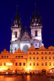Church of Our Lady Before Tyn at Night — Stock Photo