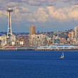 Seattle and Yacht — Stock Photo #1204763
