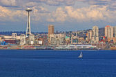 Seattle and Yacht — Stock Photo
