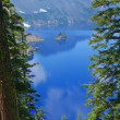 Crater Lake, Phantom Ship — Stock Photo