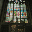Stock Photo: St Vitus Stained Glass Window