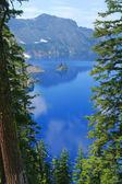Crater lake, fantoom schip — Stockfoto