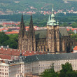 Stock Photo: St Vitus, Prague Castle and Hradcany Dis