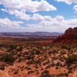 Desert panorama - Stock Photo