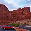 Arches National Park Parking — Stock Photo