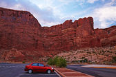 Arches national park estacionamento — Foto Stock