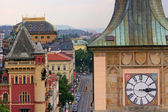 Prague Rooftops and Clock Tower — Stock Photo