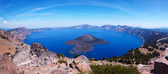 Crater Lake 45 megapixel panorama — Stock Photo