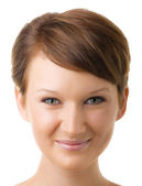 Beautiful girl face — Stock Photo