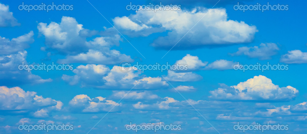 Nice sky background in summer day  Stock Photo #1213302