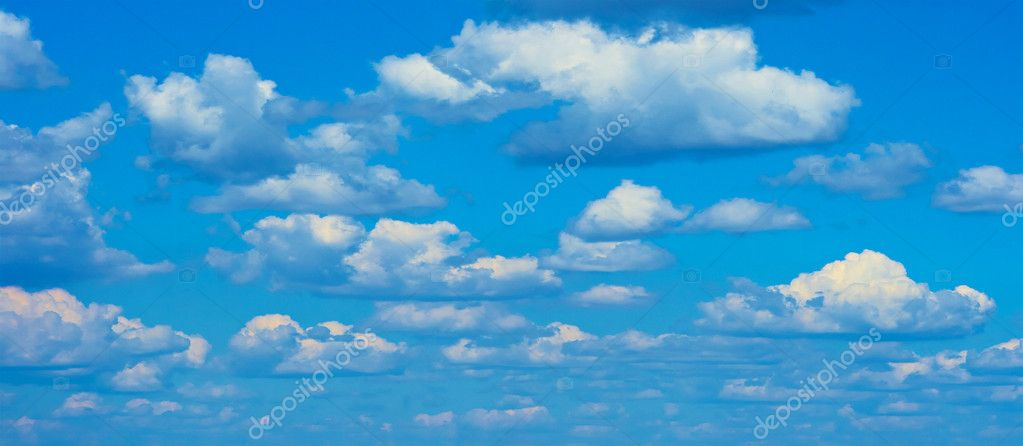 Nice sky background in summer day — Stock Photo #1213302