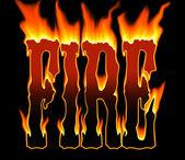 W gorący płomień — Zdjęcie stockowe