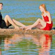Relax by the river — Stock Photo