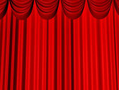 Reds beautiful curtains — Stock Photo