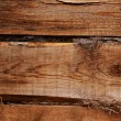 Shaggy wooden wall — Stock Photo