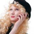 Talking on a cellular phone — Stock Photo #1323883