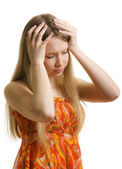 Obsessive headache — Stock Photo