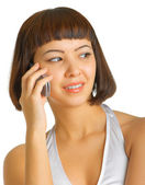 Turn the girl with the phone — Stock Photo