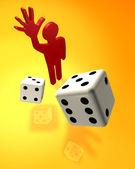 Casino gamer — Stock Photo