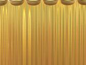 Golden beautiful curtains — Stock Photo