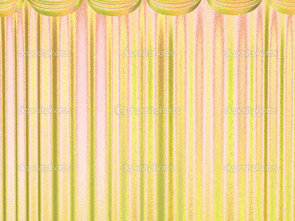 Golden Beautiful Curtains Background Stock Photo