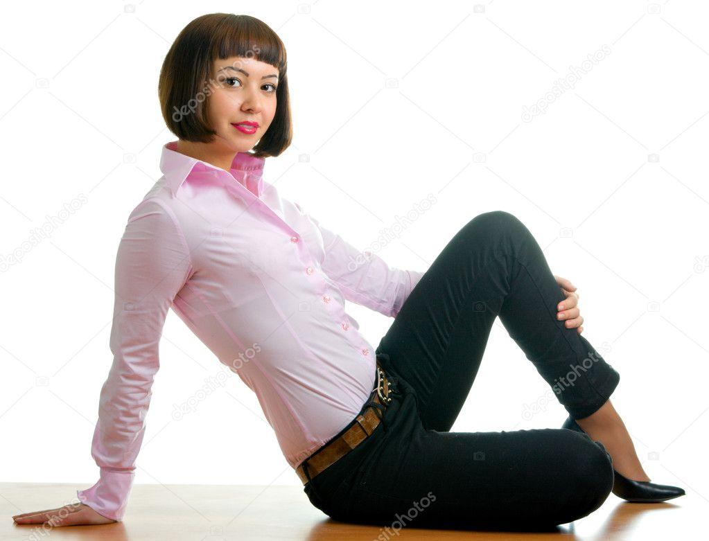 сенксуальная девушка в брюках
