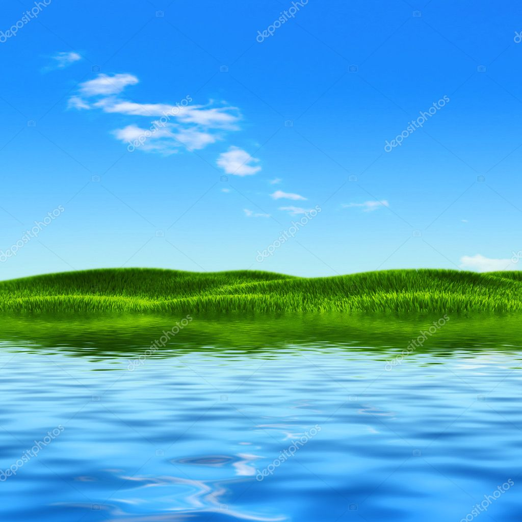 Summer Lake Stock Photo Articoufa 1326087