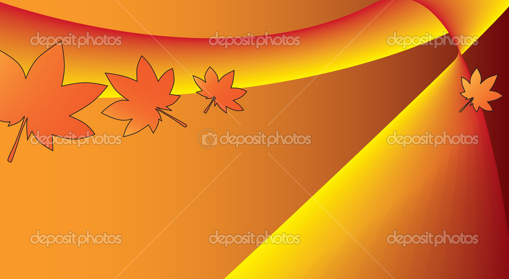 Beautiful background in autumn style — Stock Vector #2475528