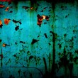 Acid blue and rusty background - Stock Photo