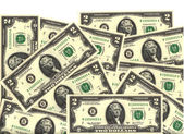 Two dollar bill background — Stock Photo