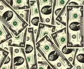 Dva dolarové bankovky — Stock fotografie