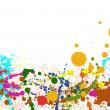 Colorful paint splashes background — Photo