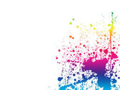 Paint splashes spectrum background — Stock Photo