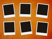 Six blank photos — Stock Photo