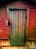 Vintage houten deur — Stockfoto