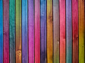 Colorful wooden wall — Stockfoto