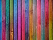 Kleurrijke houten muur — Stockfoto