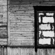 Black and white vintage wooden wall with — Stock Photo