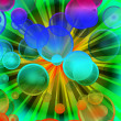Colorful bubble explosion - more similar — 图库照片