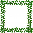 Wonderful natural green ribbon frame - s - Stock Photo