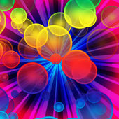 Colorful bubble explosion - more similar — Stock Photo