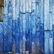 Vintage blue wooden background — Stock Photo