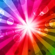 Colorful night party background - Stock Photo