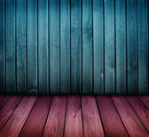 Colorful vintage wooden room wooden room — Stock Photo