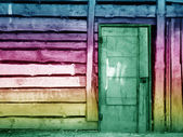 Olive vintage wooden door — Stock Photo
