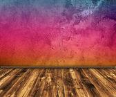 Гранж разноцветные интерьер — Стоковое фото