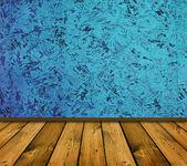 Modrá vinobraní interiér — Stock fotografie