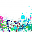 Colorful paint splashes background - Photo