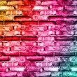 Stock Photo: Cracked vintage brick wall